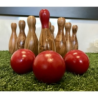 Outdoor Wooden Skittles Bowling Lawn Game Set