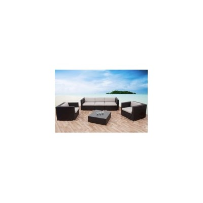 California Outdoor 5 Seat Lounge Set w Coffee Table