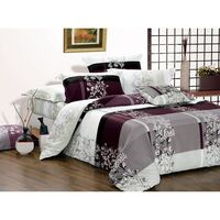 Maisy King Size Quilt Doona Duvet Cover Set 300TC