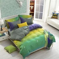 Stars Super King Polyester Doona Duvet Cover Set