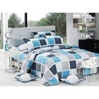 Brinty King Polyester Quilt Doona Duvet Cover Set