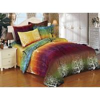 Rainbow Tree Super King Size Doona Quilt Cover Set