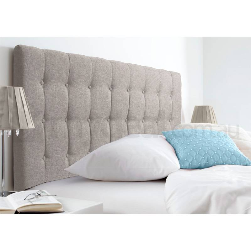Maddison Beige Upholstered King Headboard Buy Queen Size