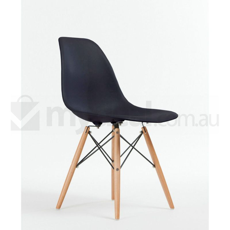 8 pack replica eames eiffel dsw dining chair black buy for Reproduction eames dsw