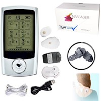 Dual Channel TENS Pain Relief Massager w/ Large LCD