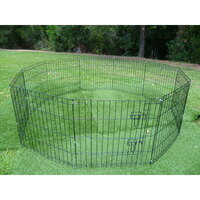 Pet Puppy Metal Enclosure Playpen 8 Panel 24in