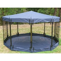 Pet Playpen Waterproof Floor or Cover Navy 80cm