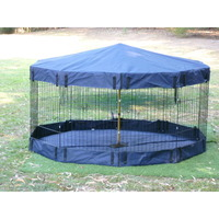 Pet Playpen Waterproof Floor or Cover Navy 61cm
