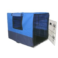 3 Door Collapsible Dog Crate w/ Canvas Cover 48in