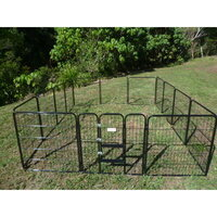 Pet Outdoor Run Exercise 14 Panel Playpen 80cm