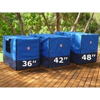 Weatherproof Canvas Dog Crate Cover in Blue 92cm
