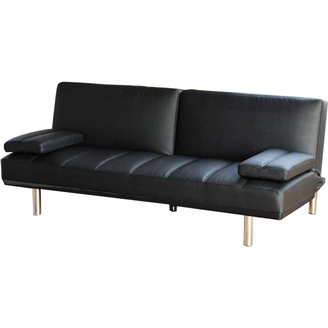 Pu Leather Click Clack Sofa Bed Couch In Black Buy Sofa Beds