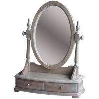 Vintage Whitewash Vanity Dressing Table Top Mirror