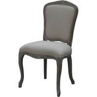 Louis XVI Whitewash Square Upholstered Dining Chair