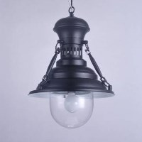 Industrial Metal European Pendant Light Black 45cm
