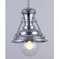 Industrial Metal European Pendant Light Chrome 48cm