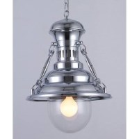 Industrial Metal European Pendant Light Chrome 45cm