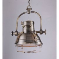 Vintage Industrial European Pendant Light in Brass