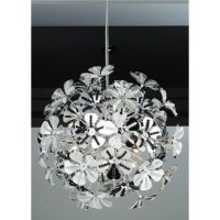 Modern Chrome Flower Ball Pendant Ceiling Light