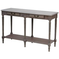 Louis XVI Wooden Hall Side Table in Wash White