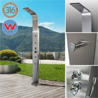 Brighton Stainless Steel Outdoor Shower w/ Massage