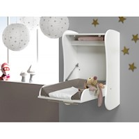 Wall Mounted Baby Changing Table Drop Down White