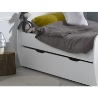 Youpi Kids Single Under Bed Drawer in Satin White