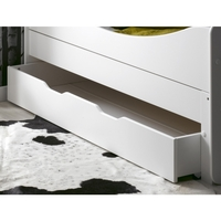 Feroe Kids Single Under Bed Drawer in Satin White