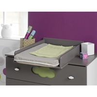 Altea Dresser Baby Change Table Top in Satin Brown