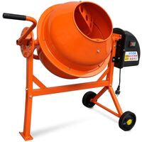 Steel Electric Concrete Cement Mixer 63L 220W 230V
