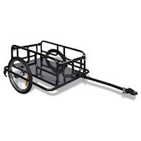 Iron Bicycle Cargo Bike Trailer on 2 Wheels Black