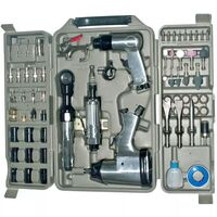 Extensive 71 Piece Air Impact Tool Set with Case