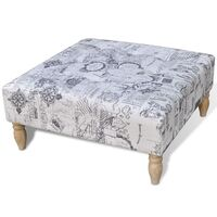 Large Oval Fabric Buttoned Ottoman Explorer Style