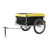 Cargo Storage Bike Trailer w/ Cover Black & Yellow