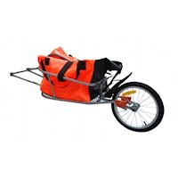 1 Wheel Foldable Bicycle Bike Trailer w Luggage Bag