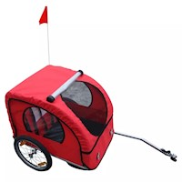 Kids Bicycle Bike Trailer w/ 2 Side Pockets in Red