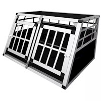 Lightweight Dog Carrier Transport Cage with 2 Doors
