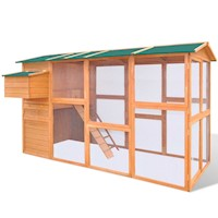Large Outdoor Chicken Coop Hen House with Egg Cage
