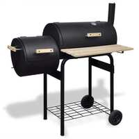 Classic Charcoal BBQ Offset Smoker with Thermometer