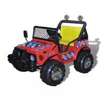 Kids Electric Ride On Car with 2 Seats in Red 12V