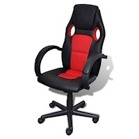 High Faux Leather Gaming & Office Chair Black Red