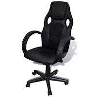 High Faux Leather Racing Gaming Office Chair Black