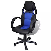 High Faux Leather Gaming & Office Chair Black Blue