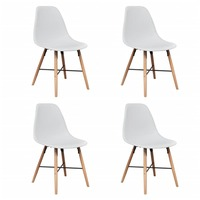 4x Eames Inspired Modern Dining Chairs in White