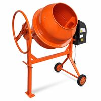 Steel Electric Concrete Cement Mixer 140L 650W 230V