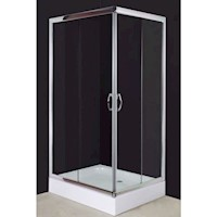 Luxury Glass Corner Shower Enclosure w Acrylic Base