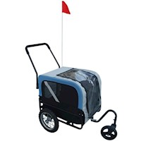 Pet Dog Bicycle Bike Trailer with Jogger in Blue