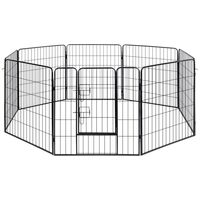 8 Panel Pet Playpen Dog Fence in Galvanised Steel