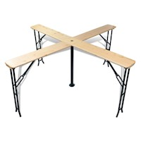 Outdoor Foldable Pine Wood Quattro Beer Bar Table