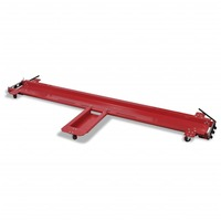 Steel Motorbike Stand Dolly with 5 Castors in Red